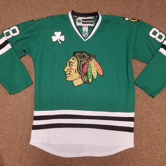 newest collection 87863 f6b5d Patrick Kane Green ☘ Chicago Blackhawks Jersey M